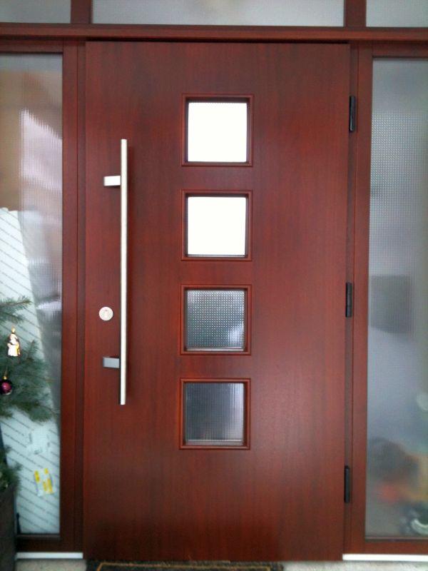 moderne holz haust ren schuenemann. Black Bedroom Furniture Sets. Home Design Ideas